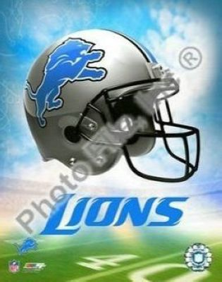 Detroit Lions NFL 8x10 Photograph Team Logo and Football Helmet Collage