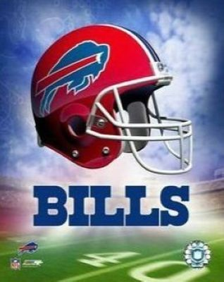 Buffalo Bills NFL 8x10 Photograph Team Logo and Football Helmet Collage