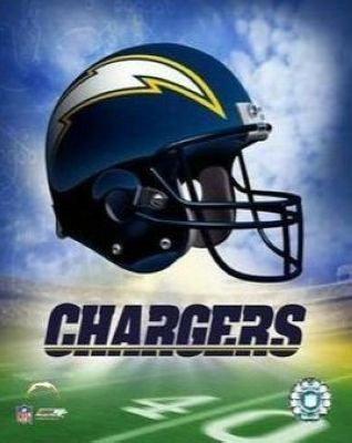 San Diego Chargers NFL 8x10 Photograph Team Logo and Football Helmet Collage