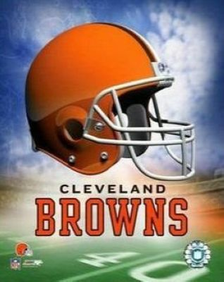 Cleveland Browns NFL 8x10 Photograph Team Logo and Football Helmet Collage