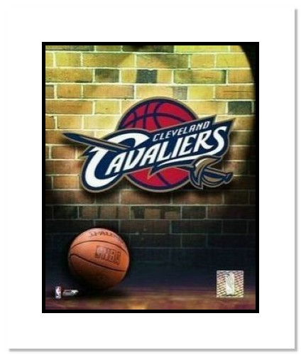 Cleveland Cavaliers NBA Double Matted 8x10 Photograph Team Logo and Basketball