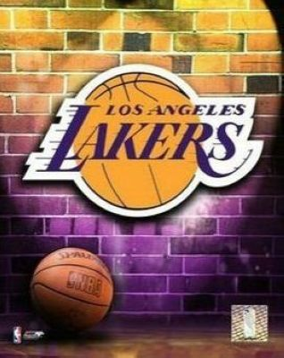 Los Angeles Lakers NBA 8x10 Photograph Team Logo and Basketball