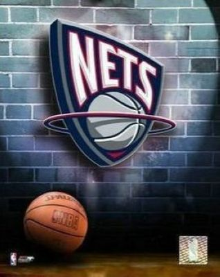 New Jersey Nets NBA 8x10 Photograph Team Logo and Basketball