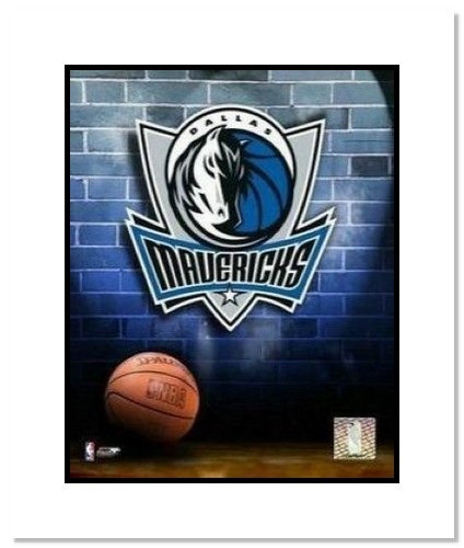 Dallas Mavericks NBA Double Matted 8x10 Photograph Team Logo and Basketball
