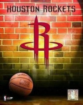 Houston Rockets NBA 8x10 Photograph Team Logo and Basketball