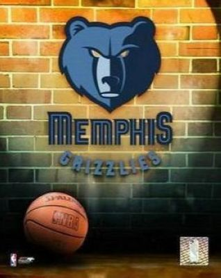 Memphis Grizzlies NBA 8x10 Photograph Team Logo and Basketball