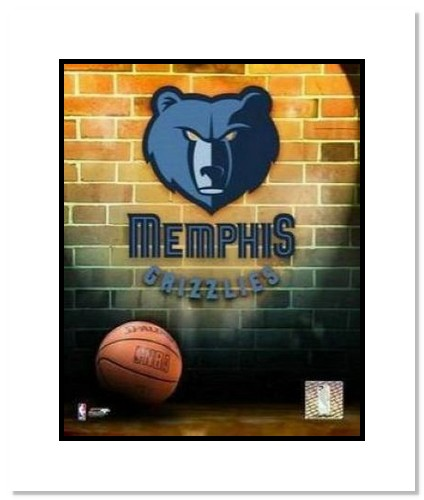 Memphis Grizzlies NBA Double Matted 8x10 Photograph Team Logo and Basketball
