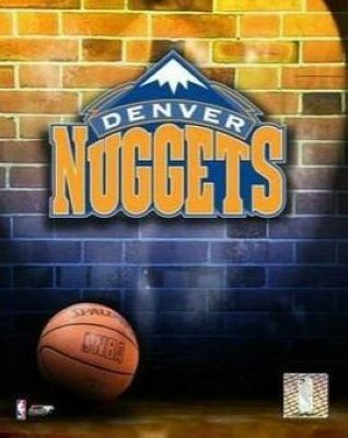 Denver Nuggets NBA 8x10 Photograph Team Logo and Basketball