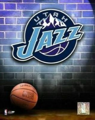 Utah Jazz NBA 8x10 Photograph Team Logo and Basketball
