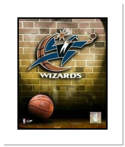 Washington Wizards NBA Double Matted 8x10 Photograph Team Logo and Basketball