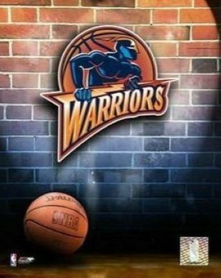 Golden State Warriors NBA 8x10 Photograph Team Logo and Basketball