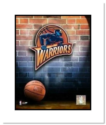 Golden State Warriors NBA Double Matted 8x10 Photograph Team Logo and Basketball
