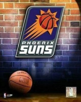 Phoenix Suns NBA 8x10 Photograph Team Logo and Basketball