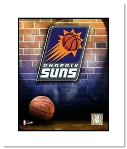 Phoenix Suns NBA Double Matted 8x10 Photograph Team Logo and Basketball
