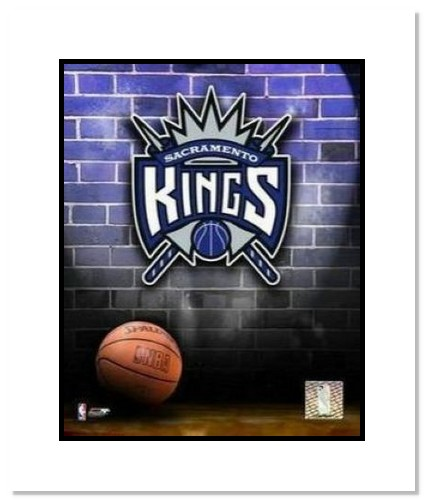 Sacramento Kings NBA Double Matted 8x10 Photograph Team Logo and Basketball