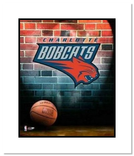 Charlotte Bobcats NBA Double Matted 8x10 Photograph Team Logo and Basketball