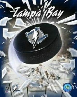 Tampa Bay Lightning NHL 8x10 Photograph Team Logo and Hockey Puck