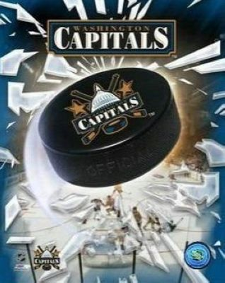 Washington Capitals NHL 8x10 Photograph Team Logo and Hockey Puck