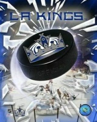 Los Angeles Kings NHL 8x10 Photograph Team Logo and Hockey Puck