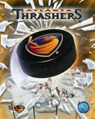 Atlanta Thrashers NHL 8x10 Photograph Team Logo and Hockey Puck