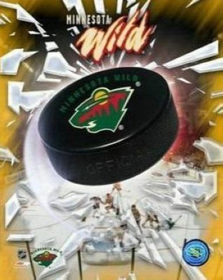 Minnesota Wild NHL 8x10 Photograph Team Logo and Hockey Puck