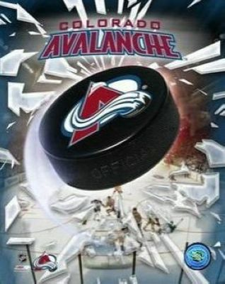 Colorado Avalanche NHL 8x10 Photograph Team Logo and Hockey Puck