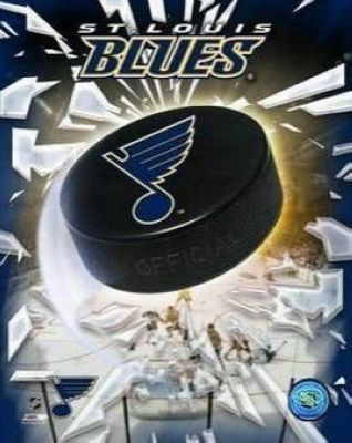 St Louis Blues NHL 8x10 Photograph Team Logo and Hockey Puck