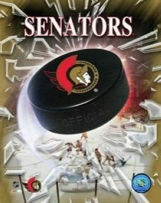 Ottawa Senators NHL 8x10 Photograph Team Logo and Hockey Puck
