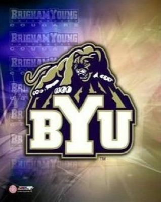 BYU Cougars NCAA 8x10 Photograph Brigham Young University Team Logo