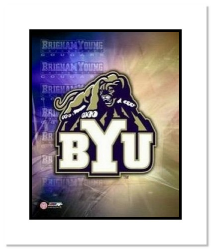 BYU Cougars NCAA Double Matted 8x10 Photograph Brigham Young University Team Logo