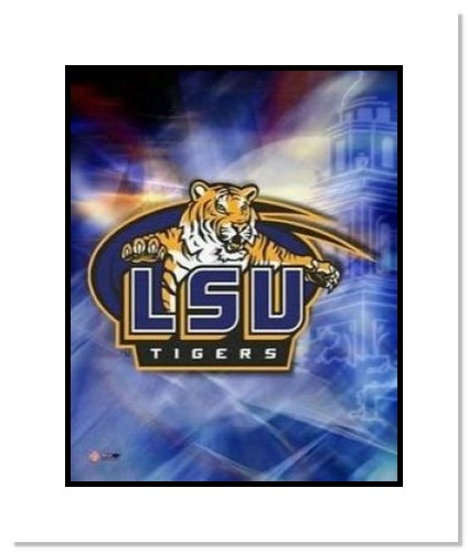 LSU Tigers NCAA Double Matted 8x10 Photograph Louisiana State University Team Logo