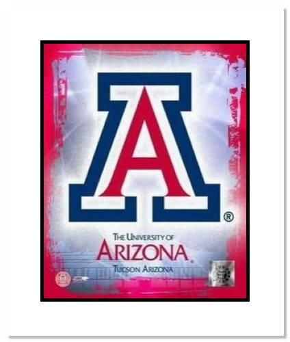 Arizona Wildcats NCAA Double Matted 8x10 Photograph University of Arizona Team Logo