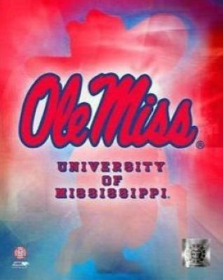 Ole Miss Rebels NCAA 8x10 Photograph University of Mississippi Team Logo