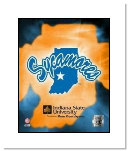 Indiana State Sycamores NCAA Double Matted 8x10 Photograph Indiana State University Team Logo