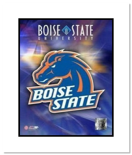 Biose State Broncos NCAA Double Matted 8x10 Photograph Boise State University Team Logo