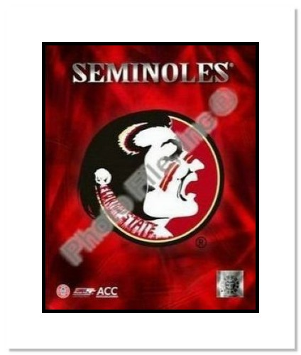 All About Autographs Florida State Seminoles NCAA Double Matted 8x10 Photograph Team Logo