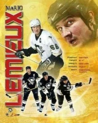 Mario Lemiuex Pittsburgh Penguins NHL 8x10 Photograph Collage