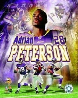 Adrian Peterson Minnesota Vikings NFL 8x10 Photograph Collage