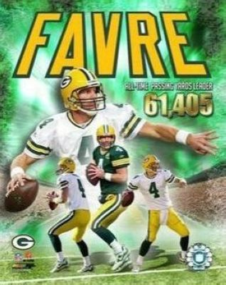 Brett Favre Green Bay Packers NFL 8x10 Photograph All Time Passing Leader Collage