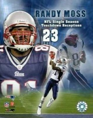 Randy Moss New England Patriots NFL 8x10 Photograph 23rd TD Collage