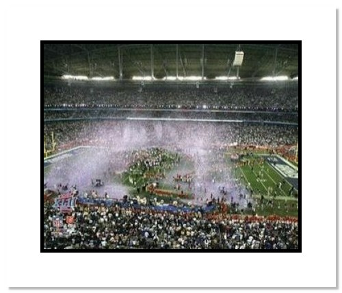 2008 New York Giants NFL Double Matted 8x10 Photograph Super Bowl XLII Arizona Stadium