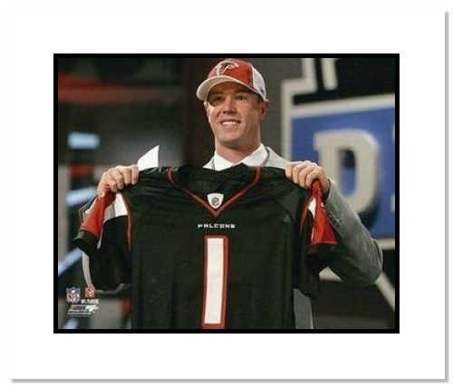 Matt Ryan Atlanta Falcons NFL Double Matted 8x10 Photograph 2008 1st Round Draft Pick, #3 Overall