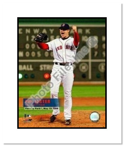 Jon Lester Boston Red Sox MLB Double Matted 8x10 Photograph No Hitter Celebration 05/19/08