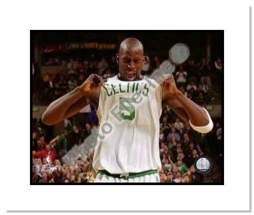 Kevin Garnett Boston Celtics NBA Double Matted 8x10 Photograph 2008 Playoffs Celebration