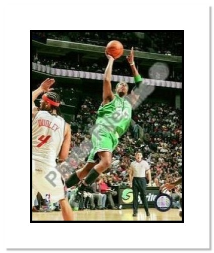 Paul Pierce Boston Celtics NBA Double Matted 8x10 Photograph 2009 Action Shooting