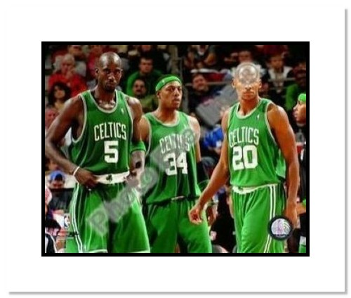 Kevin Garnett Ray Allen & Paul Pierce Boston Celtics NBA Double Matted 8x10 Photograph Big 3