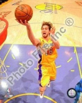 Pau Gasol Los Angeles Lakers NBA 8x10 Photograph 2008 Playoffs Shooting