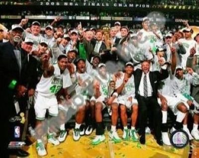 2008 NBA Finals Champions Boston Celtics 8x10 Photograph TD Banknorth Arena Celebration