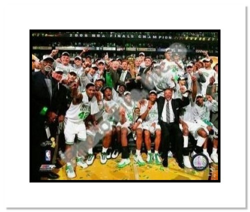 2008 NBA Finals Champions Boston Celtics Double Matted 8x10 Photograph TD Banknorth Arena Celebration