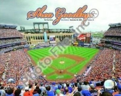 New York Mets MLB 8x10 Photograph Shea Stadium Farewell Aerial